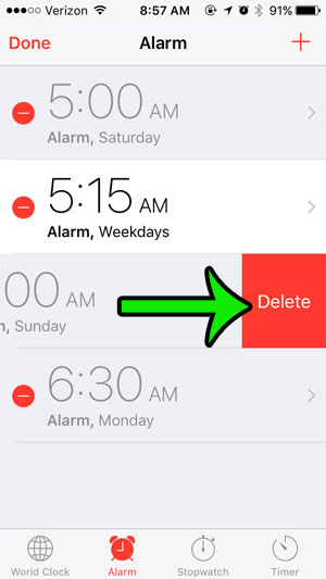How to Delete an Alarm on an iPhone 5